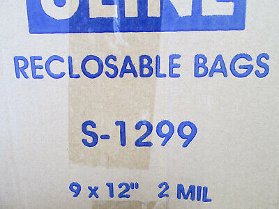 100 Plastic Bags 9 X 12 Reclosable Zip Lock 2 Mil