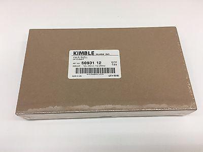 Kimble Glass Shell Vials - 12 Dram - 12 X 35mm - 144 Qty - Opticlear
