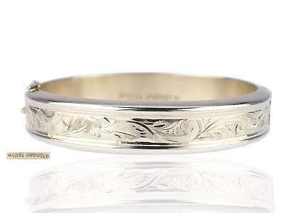Art Deco Damen 800 Silber florale Armspange Armreif 18,0 cm BG Handarbeit
