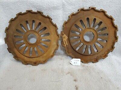 2 Cast Iron Ih International Mccormick Corn Seed Planter Plates 1978a 16 Cell 2
