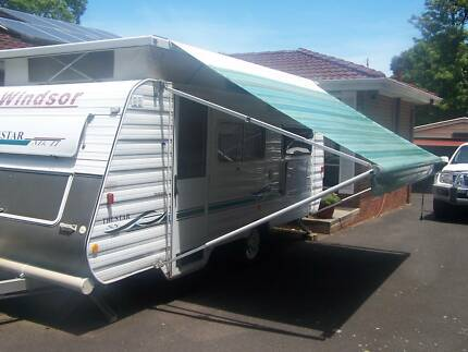 "2004 WINDSOR TRUSTAR MK2 17.'6"" POP TOP CARAVAN"