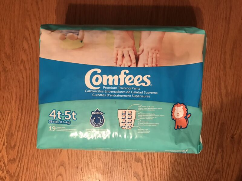 Comfees Boys Training Pants Size 4T-5T Pack of 19