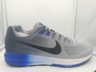 Nike Air Zoom Structure 21 UK 11.5 Wolf Grey Black Light Carbon 904695-003