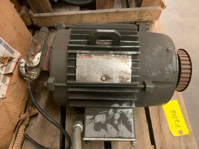 Lincoln Electric Motor AN4S5TC61Q15  HP:5 RPM:1750 Frame: 213TC Volts:230/46