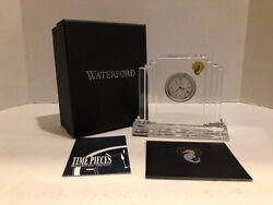 "Waterford Crystal Glass Metropolitan Clock 5"" by 6"" NIB"