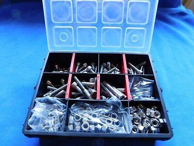 Din 912 V2A M6 Set + Muttern, Scheiben, Federringe, Polystopmuttern 445 Teile
