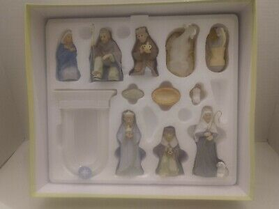 Hallmark 11 Piece Miniature Porcelain Nativity Set