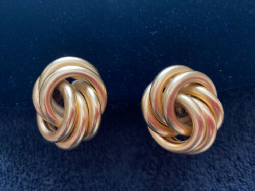 Vintage Gold Fashion Clip On Earrings - $20.00