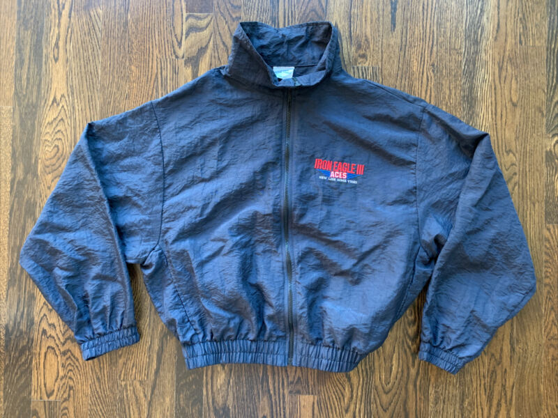 IRON EAGLE III 3 ACES Jacket Windbreaker 90s Vtg Movie Home Video Promo USA XL