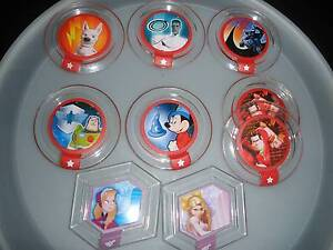 9 Disney Infinity Power Discs includes 5 RARE and 1 Double Albany Creek Brisbane North East Preview