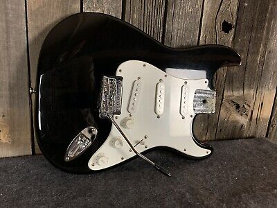 Black Fender Squier  Stratocaster LOADED BODY Clean 2004 Indonesia Made
