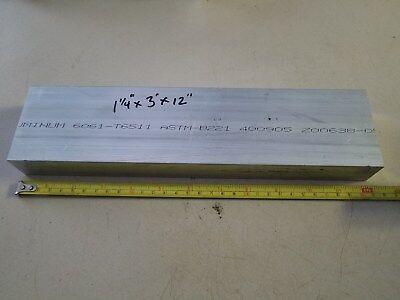 Aluminum Bar 1-14 X 3 X 12 6061 Machine Lathe Stock