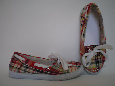 Rote Halbschuhe Schuhe (Damen Halb Schuhe Ballerina Stoff Schuhe MAGNUS Neu Gr. 36 rot)