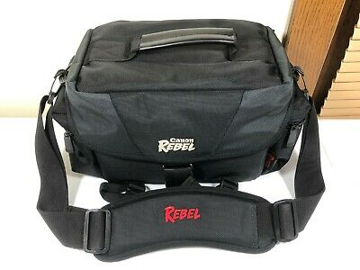 Official Canon Rebel DSLR Camera Gadget Bag With Shoulder Strap