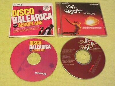 Mixmag Aeroplane Disco Balearica & Viva Ibiza Nightlife 2 CD Albums Dance House