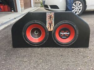 """Twin 10"""" Sony Xplod Subwoofers & Amps"""