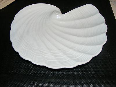 Декоративные тарелки Nautilus Shaped Shell White