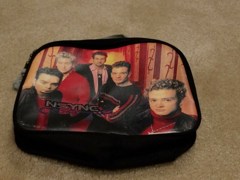 VINTAGE NSYNC EMBROIDERED CANVAS LUNCHBOX JUSTIN TIMBERLAKE Boy Band