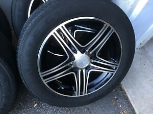 4 summer tires with mag  205/55/16 (5x114.3)