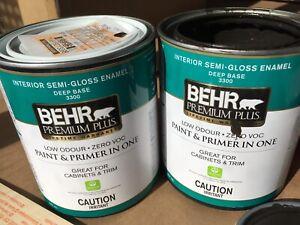 Peinture brun/Brown paint - interior semi-gloss
