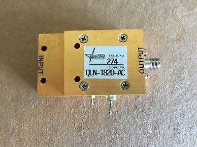 K-band Lna Optimized For 18ghz - 20ghz Microwave Amp Wr-42 Input Sma Output