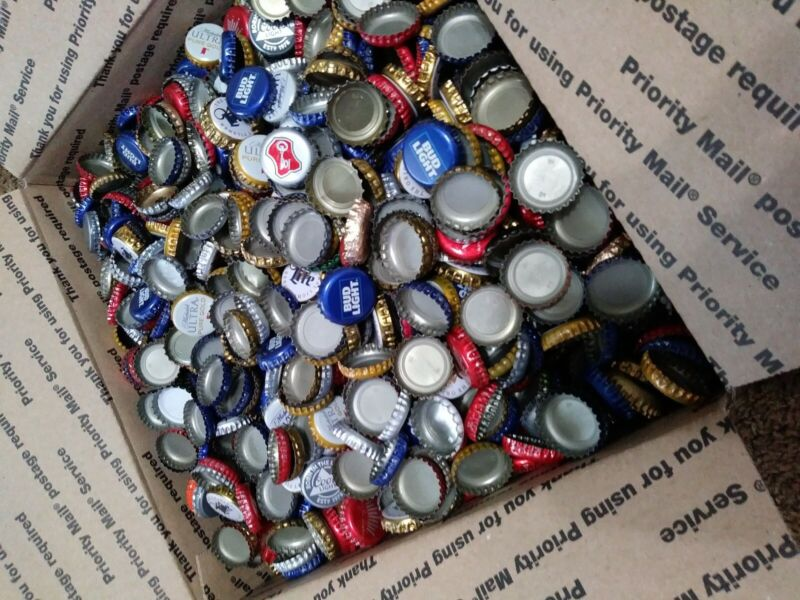 500 Used Beer Bottle Caps Lot