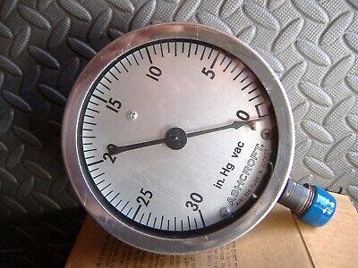 Ashcroft Vacuum Gauge 0-30 Hg 12 Npt