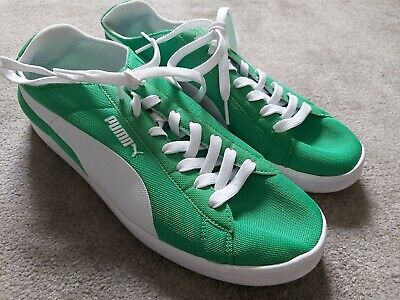 Men's Puma Green & White Light Weight Trainers Size 9