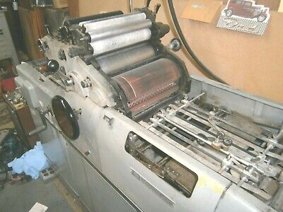 Multilith 1250 Lw Offset Printing Press With Multi 1215 Chain Delivery Or Parts