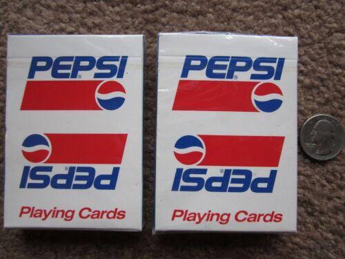 ORIGINAL > 2 decks PEPSI playing cards . Mint . SEALED pepsi-cola