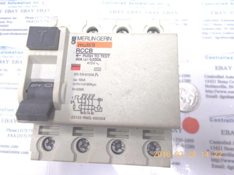 Merlin Gerin Multi9 RCCB Circuit Breaker 4-pole 40A 415V
