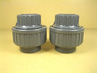 Gf Pvc Union 34 Pipe To 34 Fnpt Sch 25 Lot Of 2