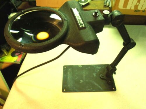 INDUSTRIAL AGE STANLEY #701 ARTICULATING BENCH MAGNIFIER LAMP