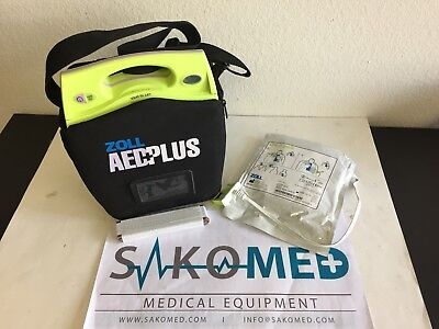 Zoll Aed Plus New Battery And New Adult Cpr D-pad And Carry Case