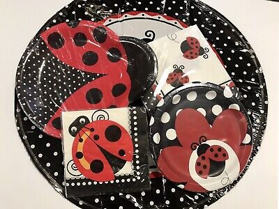 1st Bday Decorations (Lady Bug Birthday Party Pack Plates Napkins Balloon Baby Shower 1st Bday)