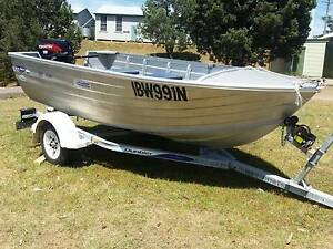 Aluminium Fishing Boat with 30hp Motor Tamworth Tamworth City Preview