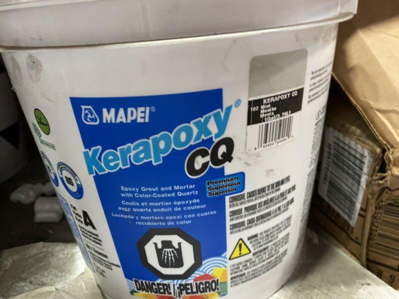 MAPEIKerapoxy CQ 1-Gallon #102 Mint Epoxy Grout - Brand New & Factory Sealed!