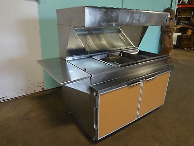 H.d. Commercial S.s. 66w Lighted Heated Fried Food Dumpholding Station