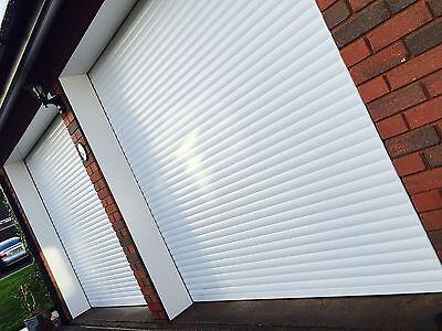 White Insulated Electric Roller Garage Door