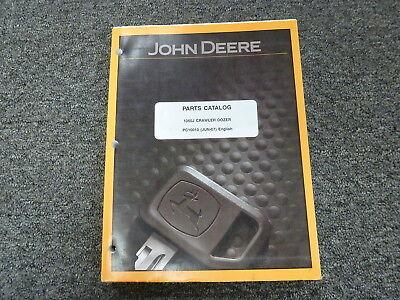John Deere 1050j Crawler Dozer Parts Catalog Manual Book Pc10010