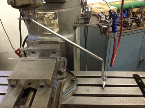"""Bridgeport Mill Tramming Bar Tram your mill WITHOUT REMOVEING YOUR VISE fo 1/4"""""""
