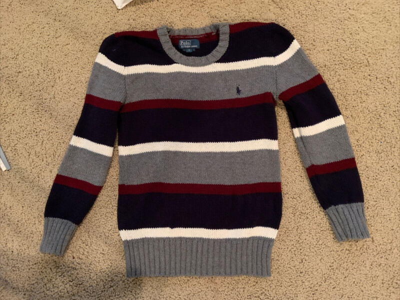 Polo Ralph Lauren Boys Striped Pullover Sweater Size 7