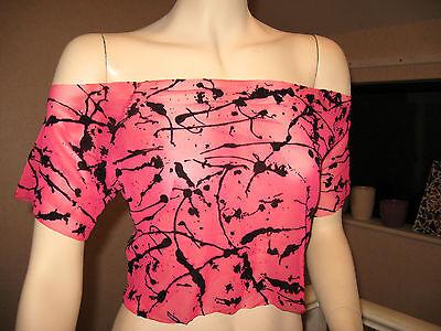 NEW Sheer Red Black velvet mesh crop top Party Gothic All sizes Punk Rock  Black Velvet Sheer