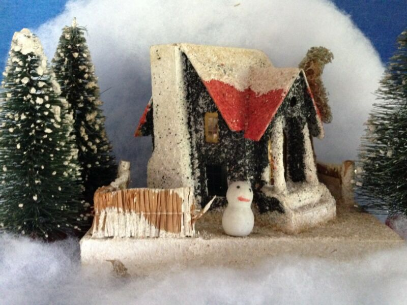 Japanese Christmas Putz House Coaconut Fiber And Sand