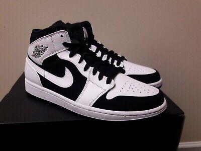 """Buty Męskie Nike Air Jordan 1 Mid """"Black White"""" 554724 113"""