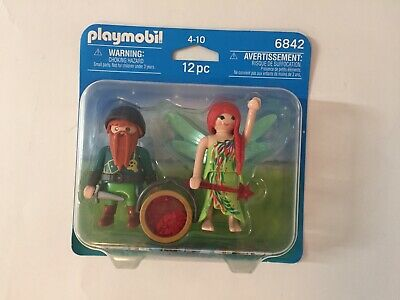 NEW IN PACKAGE Playmobil Elf And Dwarf Duo Pack 6842