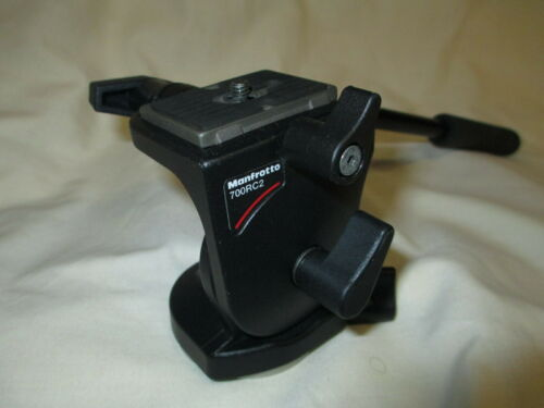 USED Manfrotto #700-RC2 Video Tripod Head w/ QR Plate