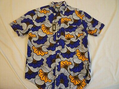 GITMAN VINTAGE Africa Floral Oxford SS M Made In US $230 New With Tags FREE SHIP