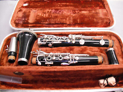 Vintage Made in WEST GERMANY Black Resin Clarinet w/Case #60061