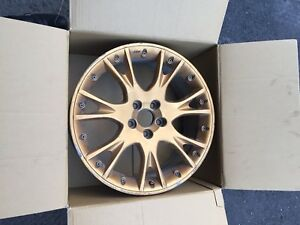 """4 Gold BBS 18"""" two piece mags 5x108"""